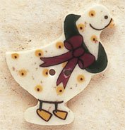 43023 - Christmas Goose - 1 1/4in x 1in